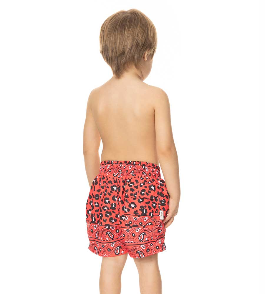 FUNNY AND WILD BOYS SWIM TRUNKS MAAJIRASH-GUARD-SHIRTS 9086KST025