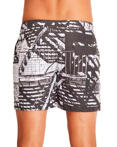 FIRE ESCAPE SWIM TRUNKS AQUA ET SOL M6311005AS