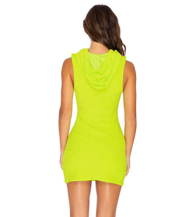 GLOW BABY GLOW LIME HODDIE POCKET DRESS LULI FAMA L643887-046