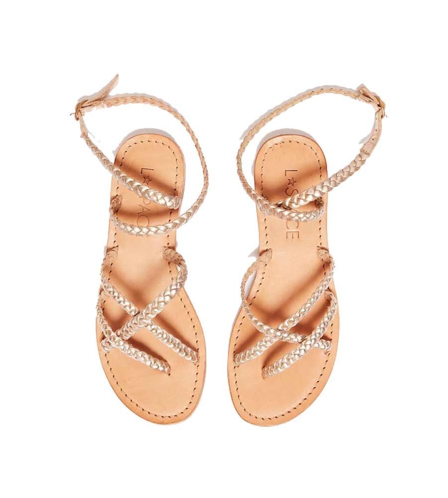 GOLD HERMOSA SANDAL LSPACE LSHER20-GLD
