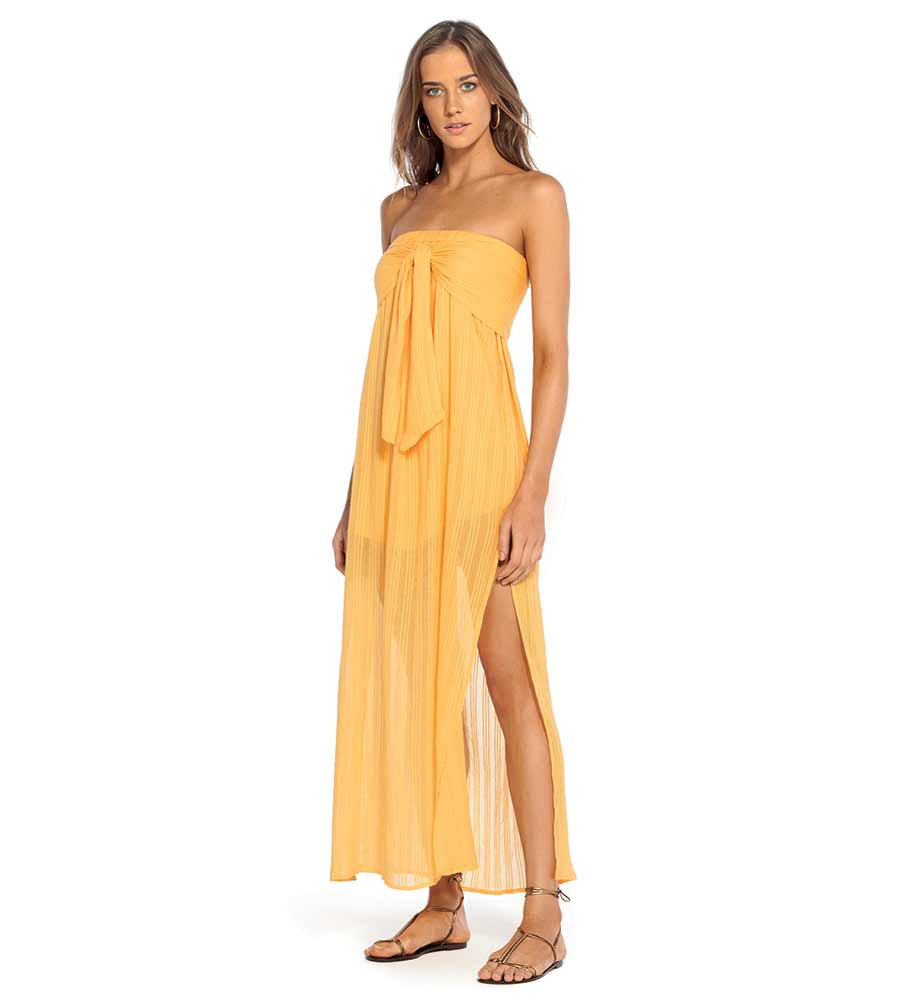 GOLD TESS STRAPLESS DRESS VIX 370-406-025