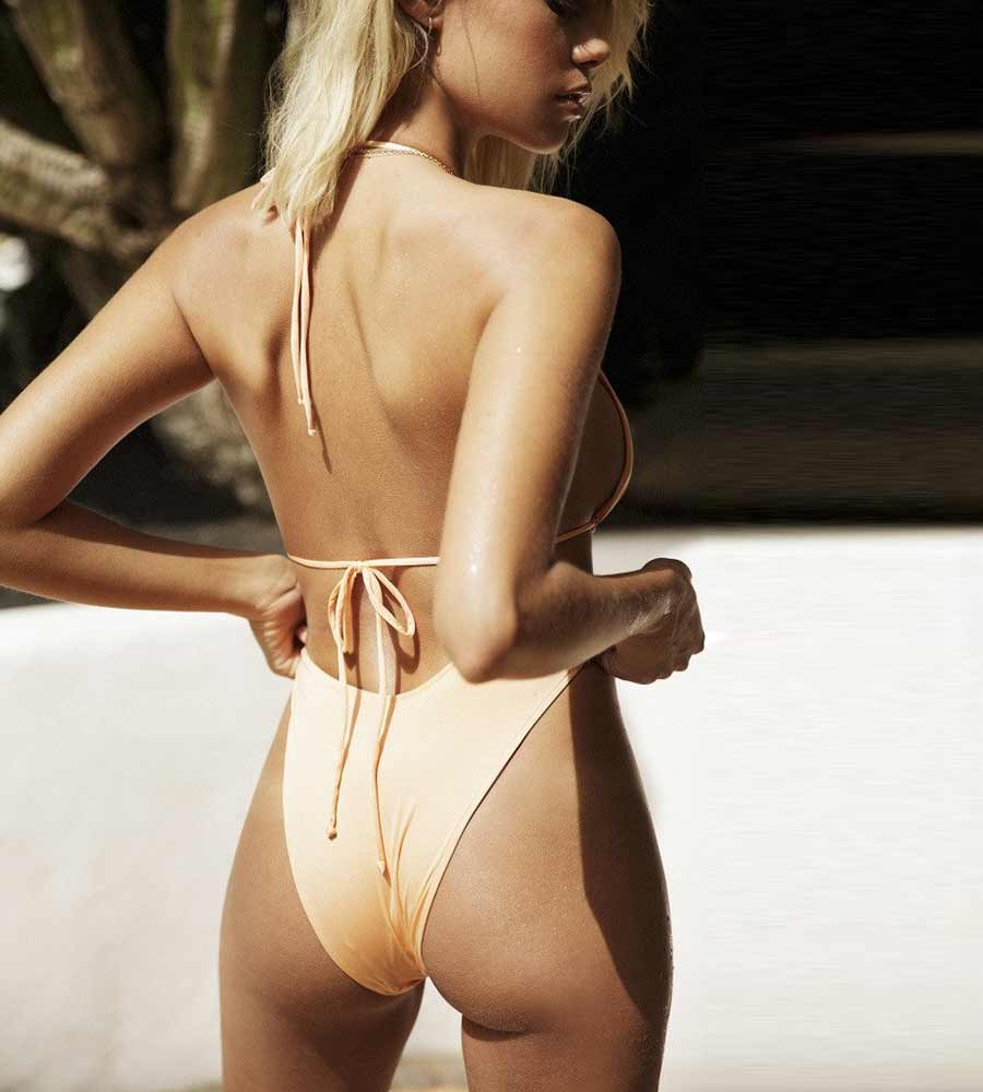 GOLD U BIKINI BOTTOM BY MONICA HANSEN