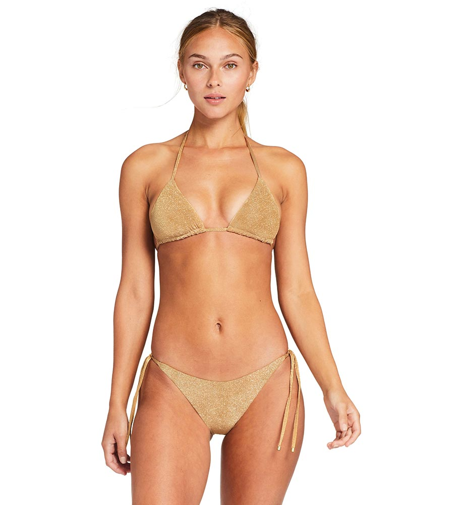 GOLDEN GLOW METALLIC ELLE TIE SIDE BOTTOM  VITAMIN A 70NBGOG
