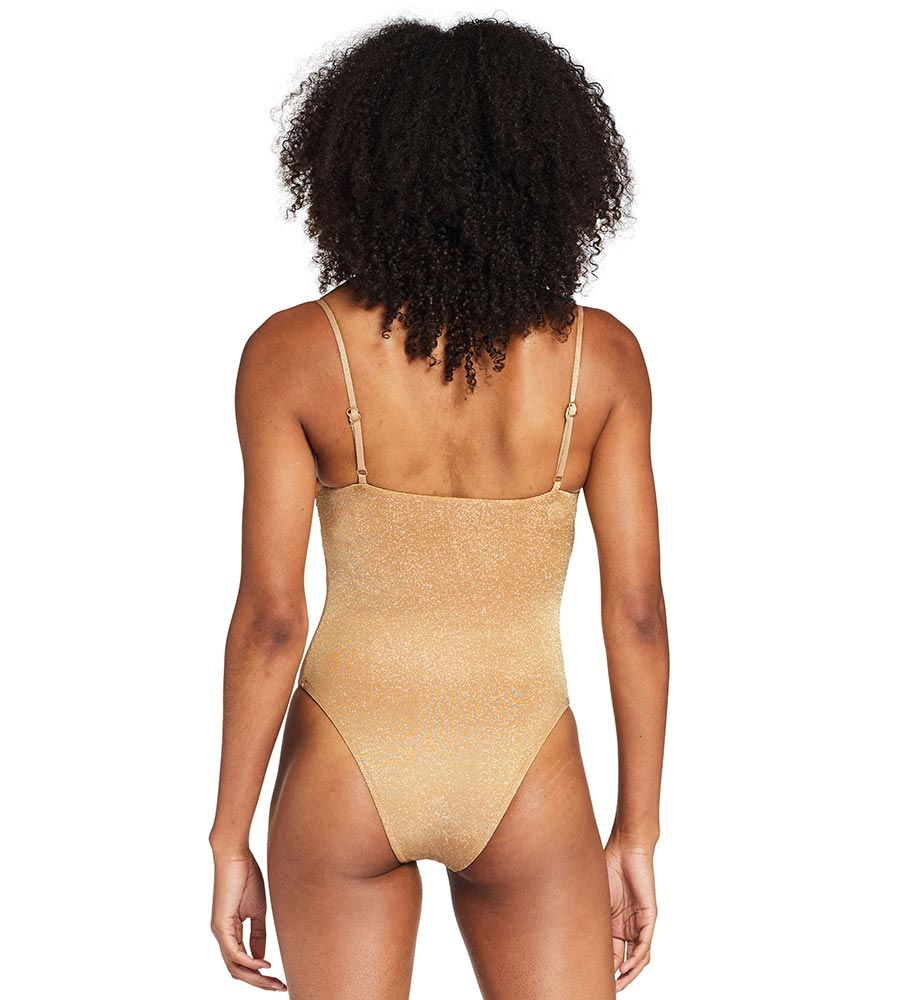 GOLDEN GLOW METALLIC JENNA BODYSUIT VITAMIN A 229MFGOG