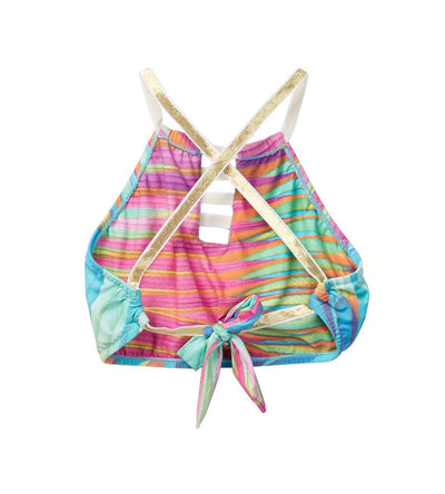 GOOD AS GOLD HIGH NECK BIKINI AZUL 3452