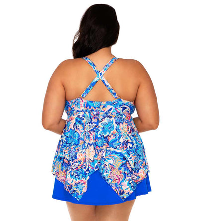 GYPSY BREEZE SAVANNAH KEYHOLE TANKINI TOP SUNSETS ESCAPE 579TGYPBR