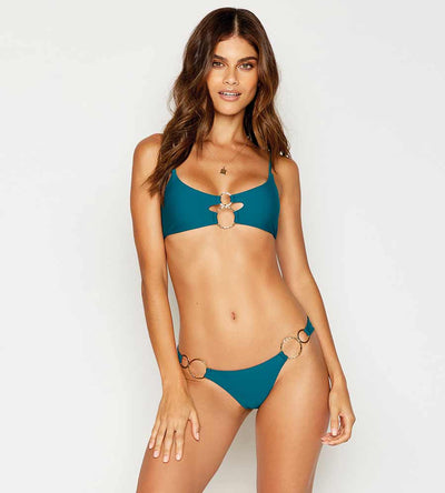 HAUTE HOLLYWOOD TEAL NADIA SKIMPY BOTTOM BEACH BUNNY B19117B1-TEAL