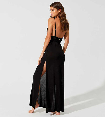 HAUTE & COLD BLACK LOLO DRESS BEACH BUNNY L1204C4-BLCK