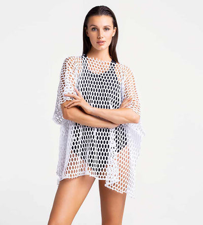 ICICLE FISHNET COVER UP TOUCHE 0A82001