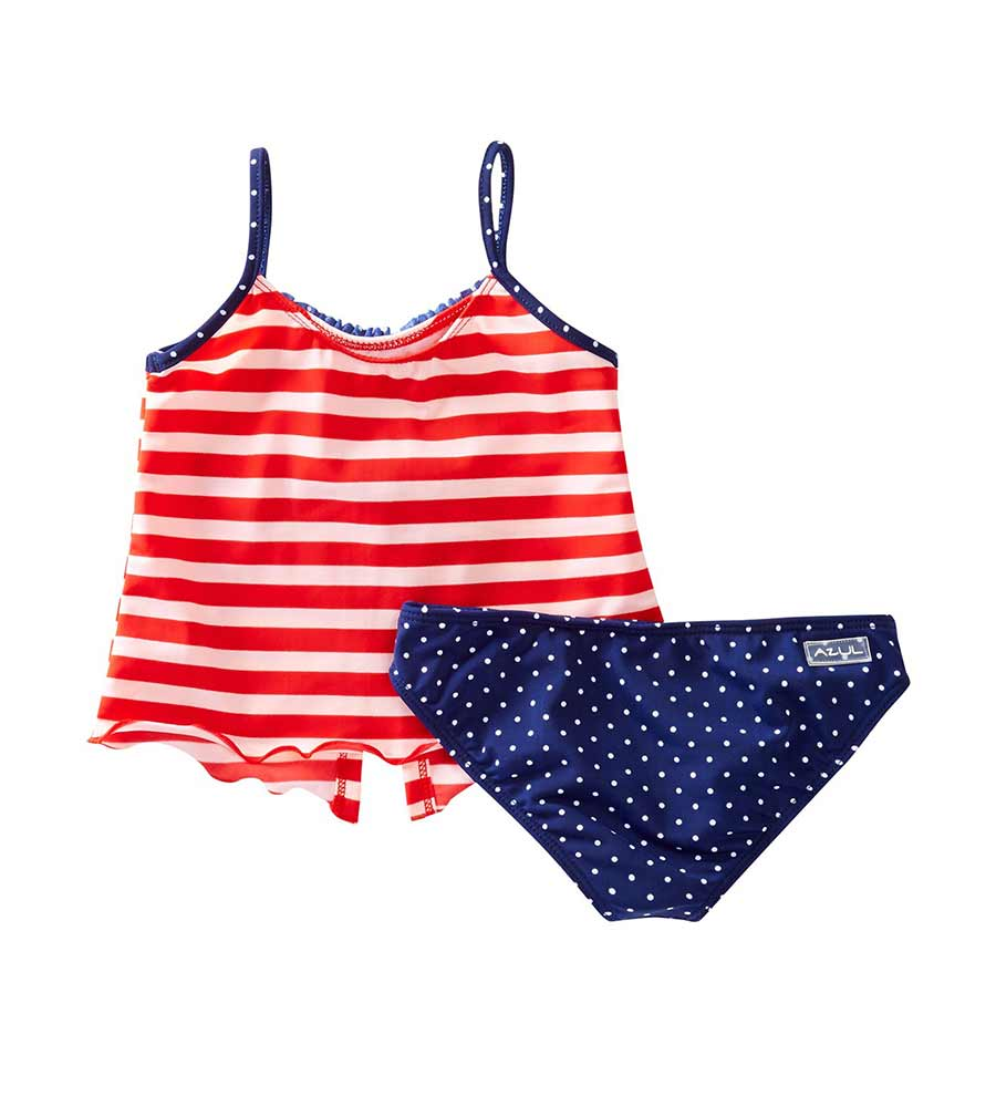 IN THE NAVY OPEN TANKINI BY AZUL