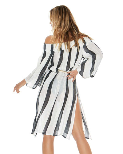 BEACH BUM STRIPE IZZY COVER UP LSPACE IZZCV18-BBS