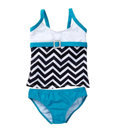JAGGED-EDGE TANKINI AZUL 5576