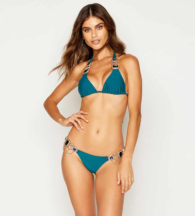 JAZMIN TEAL SKIMPY BOTTOM BEACH BUNNY B18105B1-TEAL