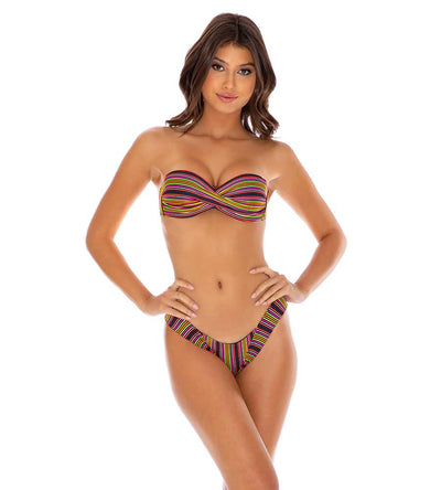 JUNGLE GLOW PUSH UP BANDEAU TOP LULI FAMA L658083-111