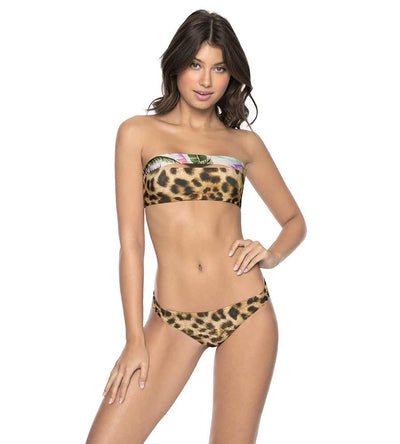 JUNGLE SPLIT BANDEAU TOP PILYQ JUN-367B