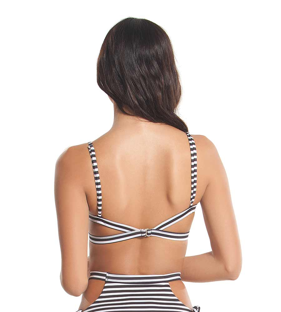TROPIC STRIPE OCEAN VIBES BIKINI TOP BY KAYOKOKO