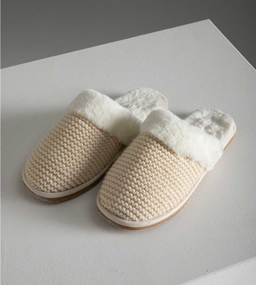 KNITTY SHERPA SLIPPERS TOUCHE 2025011