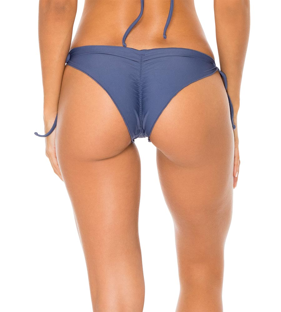 AZULEJO COSITA BUENA WAVY RUCHED BRAZILIAN TIE SIDE BOTTOM BY LULI FAMA