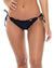 BLACK COSITA BUENA RUCHED FULL TIE SIDE BOTTOM BY LULI FAMA