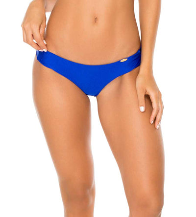 ELECTRIC BLUE COSITA BUENA RUCHED BACK BOTTOM LULI FAMA L17604P-340