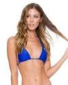 ELECTRIC BLUE COSITA BUENA REVERSIBLE ZIG ZAG CUTOUT TRIANGLE TOP LULI FAMA L176206-340