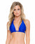 ELECTRIC BLUE COSITA BUENA TRIANGLE HALTER TOP BY LULI FAMA