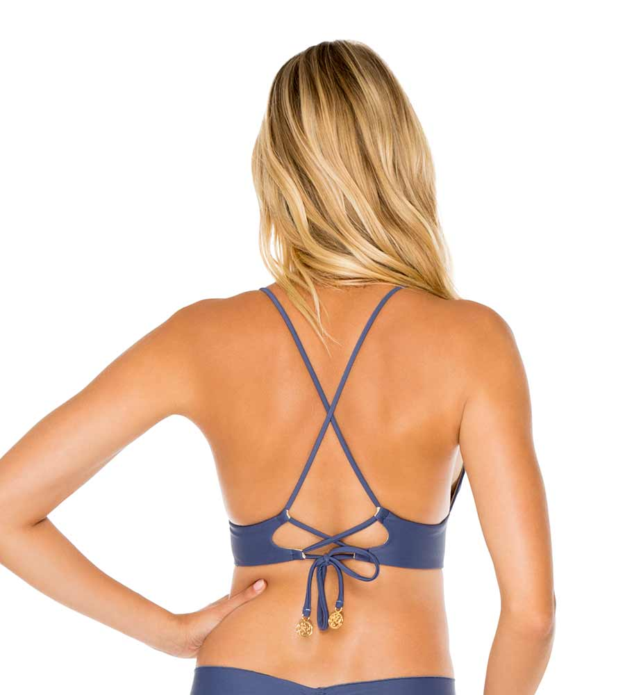 AZULEJO COSITA BUENA CROSS BACK BUSTIER TOP BY LULI FAMA