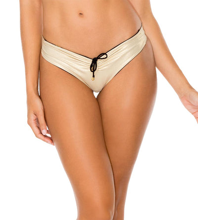BLACK COSITA BUENA REVERSIBLE DRAWSTRING RUCHED BRAZILIAN BOTTOM LULI FAMA L176M94-001