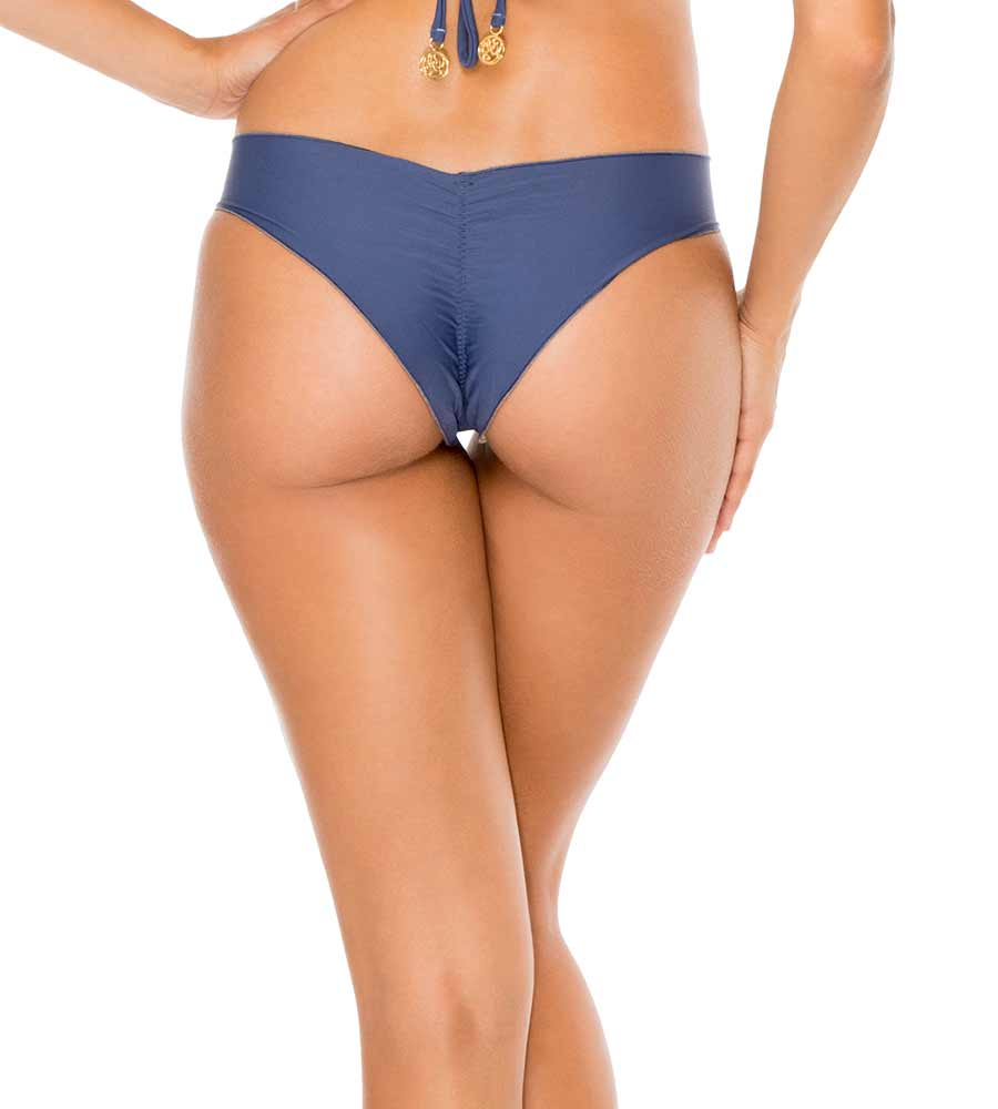 AZULEJO OSITA BUENA REVERSIBLE DRAWSTRING RUCHED BRAZILIAN BOTTOM BY LULI FAMA