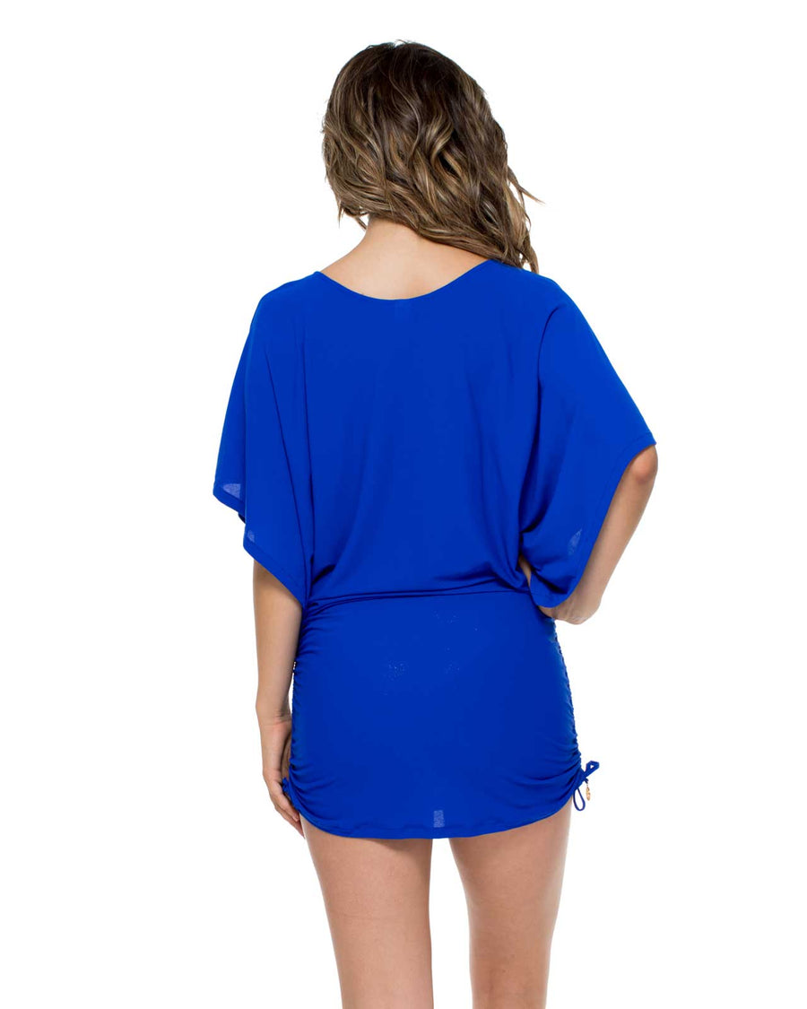 ELECTRIC BLUE COSITA BUENA SOUTH BEACH DRESS BY LULI FAMA