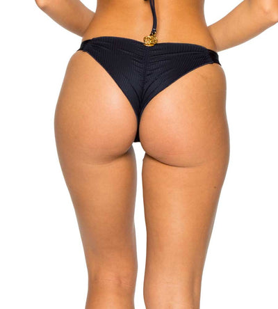 MAR DE GIBRALTAR COSTA DEL SOL STRAPPY BRAZILIAN RUCHED BOTTOM LULI FAMA L50020-477