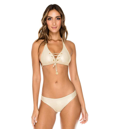 GOLD RUSH MAMBO LACED UP GROMMET FULL BOTTOM LULI FAMA L561A35-316