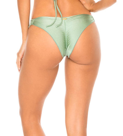 SPANISH MOSS MAMBO GROMMET STRAPPY BRAZILIAN RUCHED BOTTOM LULI FAMA L561A53-491