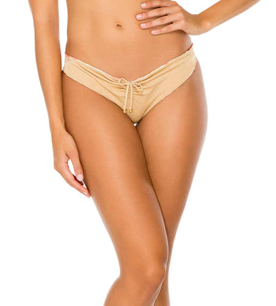 COSTA DE LUZ REVERSIBLE DRAWSTRING RUCHED BRAZILIAN BOTTOM LULI FAMA L573M94-111
