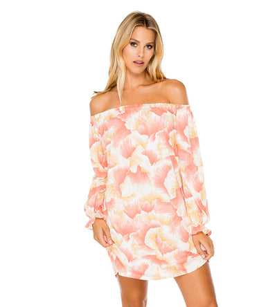 COSTA DE LUZ BELL SLEEVE SHIFT DRESS LULI FAMA L573N77-111