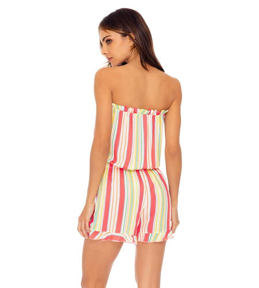 PLAY TIME STRAPLESS ROMPER LULI FAMA L634N70-517