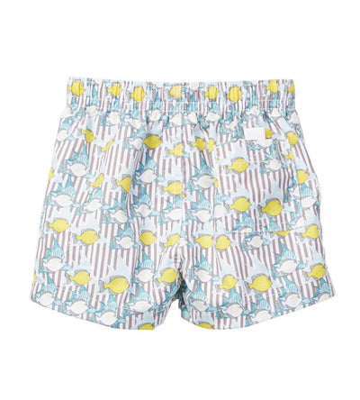 LEMON FISH INFANT SWIM SHORTS AZUL 608