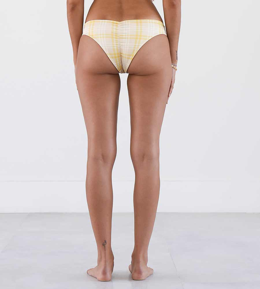 LEMON PLAID FLORIS BOTTOM NIRVANIC NW00019A