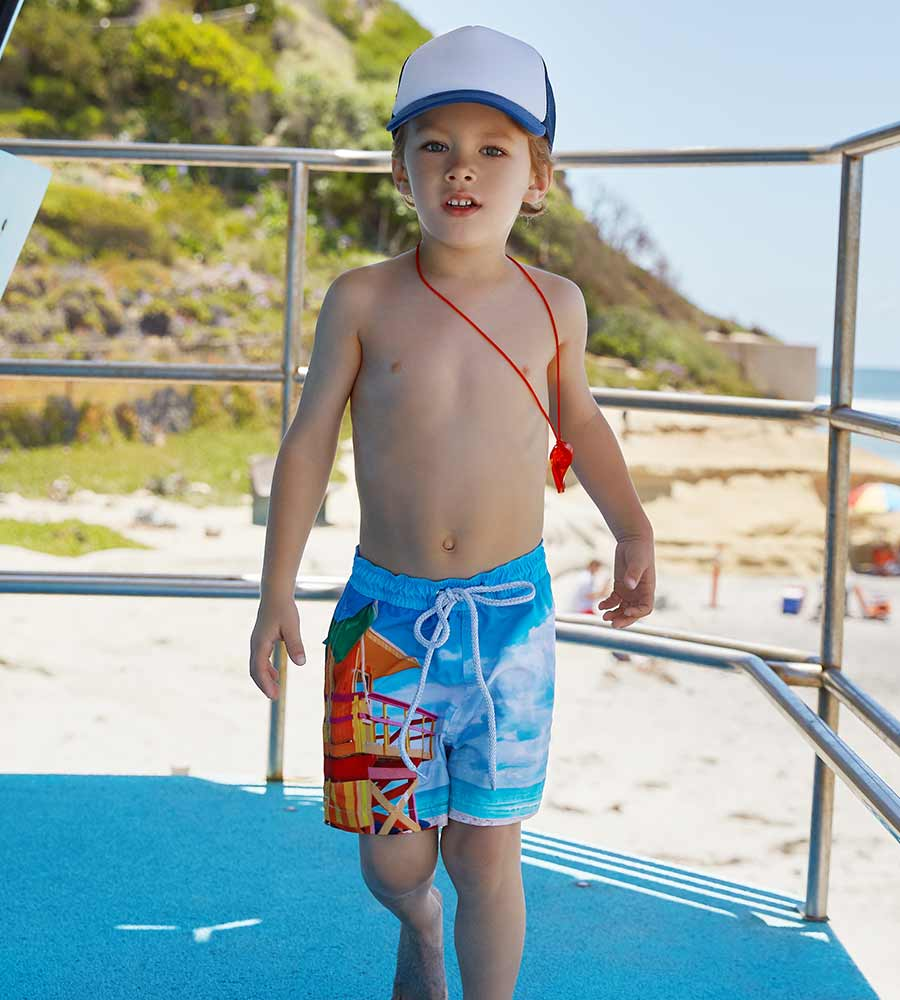 LIFEGUARD TOWER BOYS SWIM SHORTS PILYQ LFG-712S
