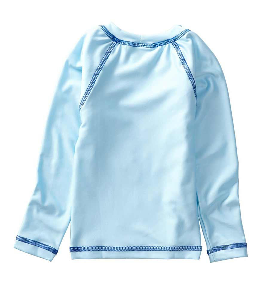 LIGHT BLUE LONG SLEEVE SURFER RASHGUARD AZUL 7007-LB