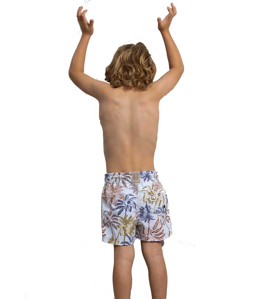 LILAC UNDER THE PALMS BOYS SWIM SHORTS TOUCHE KH14P11