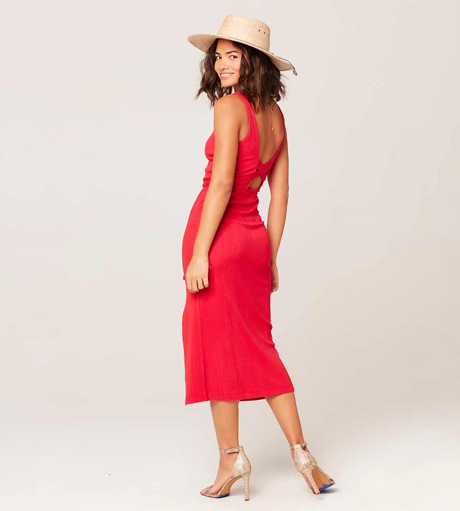 LIPSTICK RED PALM BEACH DRESS LSPACE PABDR20-LSR