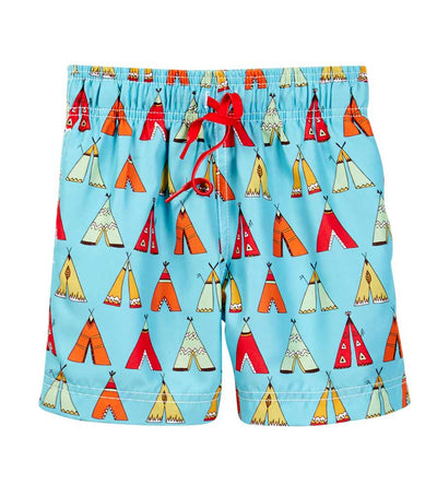 LITTLE TEEPEE SWIM SHORTS AZUL 271