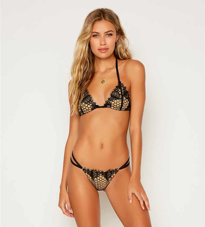 LOST IN LACE LYON TRI TOP BEACH BUNNY B12144T1-BLCK-SM20