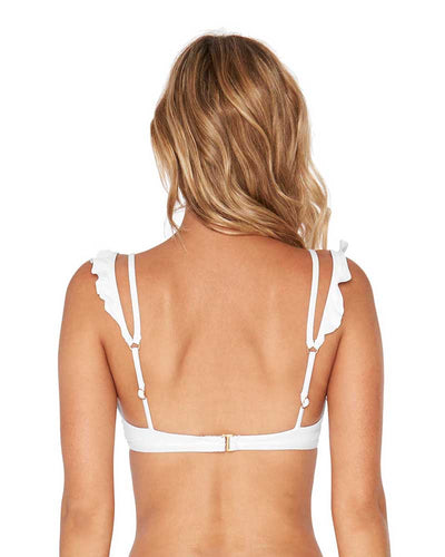 RUFFLES WHITE KINGSLEY TOP LSPACE LSKIT18-WHT