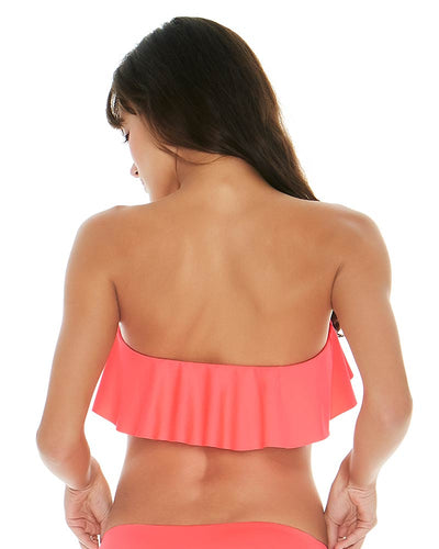 SENSUAL SOLIDS NEON PINK LYNN TUBE TOP LSPACE LSLYT18-NEP