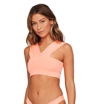CORAL PINK SENSUAL SOLIDS PARKER TOP LSPACE LSPAT17-CPK