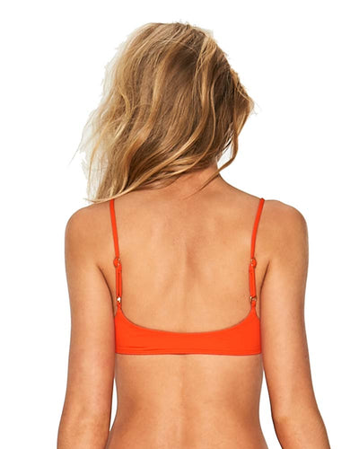POPPY SENSUAL SOLIDS PAIGE TOP LSPACE LSPGT18-POP