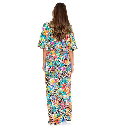LULI'S JUNGLE LONG OPEN TUNIC LULI FAMA L657L77-111