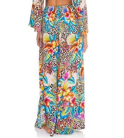 LULI'S JUNGLE OPEN SIDE WIDE LEG PANT LULI FAMA L657L79-111